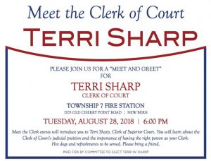 Terri Sharp: Meet the Clerk @ Township 7 Fire Station | New Bern | North Carolina | United States