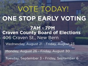 One Stop Early Voting Special Election @ Craven County Board of Elections