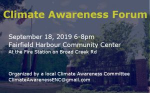 Climate Awareness Forum @ Fairfield Harbour Community Center