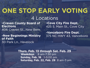 One Stop Early Voting @ Craven Board of Elections